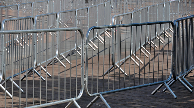 galvanised crowd barriers
